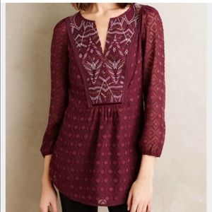 Anthropologie One September Tunic Blouse Size L
